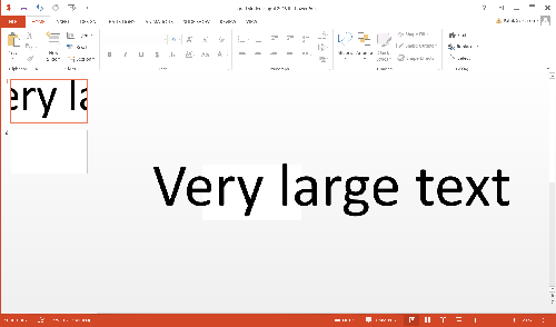 Powerpoint refejecting size of text