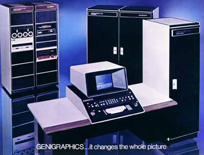 Advertising image of a Genigraphics console