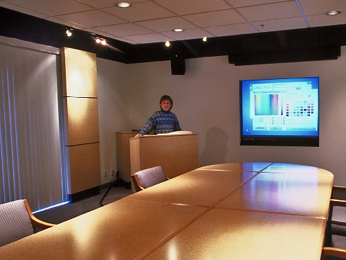 Conference room with display
