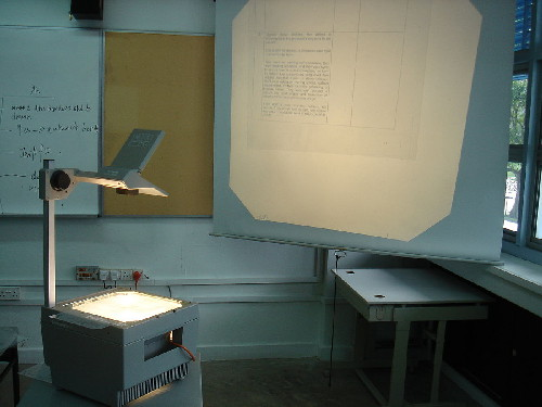 Picture of an overhead projector